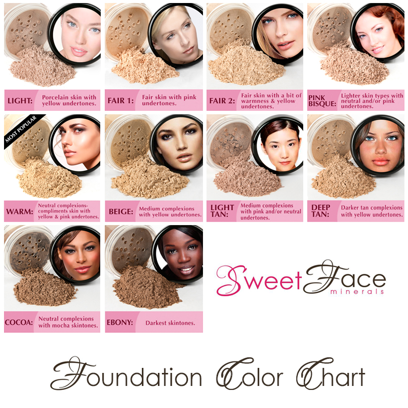 Skin Foundation All Natural Foundation Foundation Colors Sweet