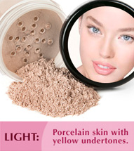 Light: Porcelain skin with yellow undertones.